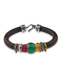 Platadepalo | Multicolor Classic Jade Silk And Zircon Bracelet | Lyst