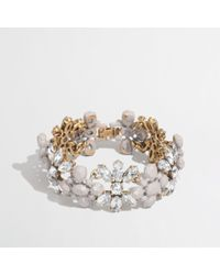J.Crew | Gray Factory Floral Band Bracelet | Lyst