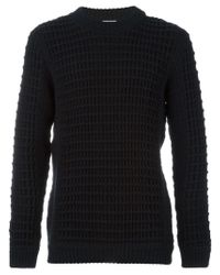 S.N.S Herning - Black Textured Knit Sweater - Lyst