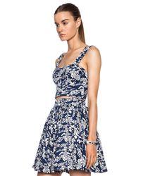 Elle Sasson - Blue Barb Cotton Top - Lyst