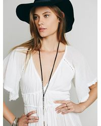 Free People | Black Womens Venture Pendant | Lyst