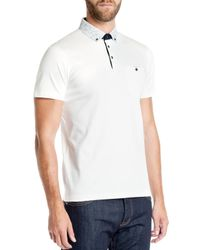 Ted Baker - White Allfor Floral Slim Fit Polo for Men - Lyst