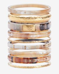 Ashley Pittman | Brown Nene Set Of 9 Bangles | Lyst