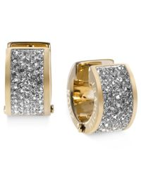 Michael Kors | Metallic Crystal Pave Huggie Earrings | Lyst