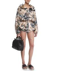 Rag & Bone - Metallic Knit Camo-print Micro Shorts - Lyst
