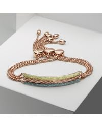Monica Vinader - Metallic Stellar Diamond Mini Bar Bracelet - Lyst