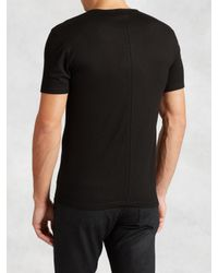 John Varvatos | Black Jersey Sheen Ss Crewneck Tee for Men | Lyst