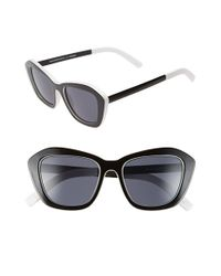 Le Specs - Black 'hollywood Blvd.' 52mm Cat Eye Sunglasses - Lyst