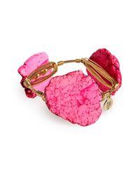 Bourbon and Boweties - Pink Medium Stone Bracelet - Lyst