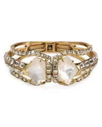 Alexis Bittar | White Miss Havisham Mother Of Pearl Geometric Hinge Cuff | Lyst