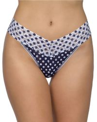 Hanky Panky | Blue Dots And Spots Original Thong | Lyst