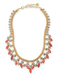 R.j. Graziano - Pink Crystal Statement Necklace for Men - Lyst