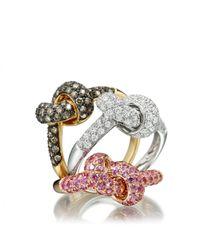 Astley Clarke - White Love Knot Diamond Ring - Lyst