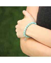 Sydney Evan - Blue Hamsa Charm Beaded Bracelet - Lyst