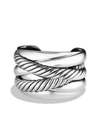 David Yurman - Metallic Crossover Cuff - Lyst