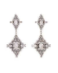 DANNIJO | Metallic Faith Crystal Drop Earrings | Lyst