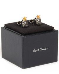 Paul Smith | Metallic Silver-tone Pineapple Cufflinks for Men | Lyst