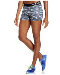 Nike | Gray Pro Haze Dri-fit Print Shorts | Lyst