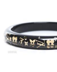 Louis Vuitton - Metallic Pre-Owned Black Small Inclusion Bracelet - Lyst
