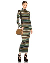 Emilio Pucci | Green Striped Knit Long Dress | Lyst