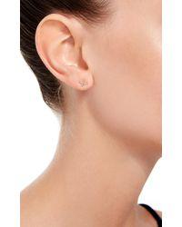 Loquet London   Metallic 14k Gold And Diamond Kiss Stud Earrings   Lyst