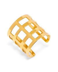 BaubleBar | Metallic 'athena' Grid Ring | Lyst
