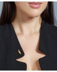 Astley Clarke - Metallic Gold-plated Moon Biography Pin - Lyst