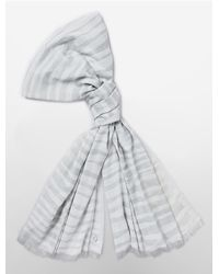 Calvin Klein - Gray White Label Colorblock Zebra Scarf - Lyst