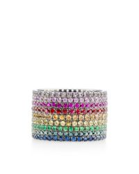 AS29 - Multicolor Lana Rainbow Pinky Ring - Lyst