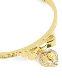 Juicy Couture | Metallic Juicy At Heart Fine Pave Bangle Bracelet | Lyst