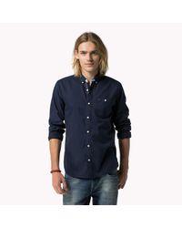 Tommy Hilfiger - Blue Cotton Button Down Shirt for Men - Lyst