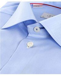 Eton of Sweden - Blue Slim Fit Plain Shirt for Men - Lyst