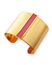 Tuleste - Metallic Enamel Channel Cuff Bracelet - Lyst