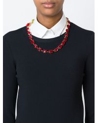 Dolce & Gabbana | Red Rose Crystal Beads Necklace | Lyst