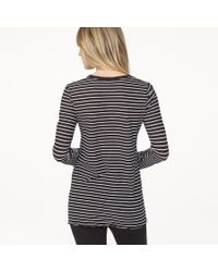 James Perse Gray Bell Sleeve Striped Crew