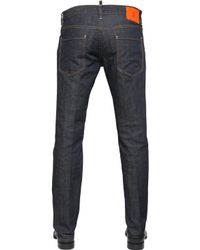 DSquared² | Blue 18cm Dark Wash Slim Fit Denim Jeans for Men | Lyst