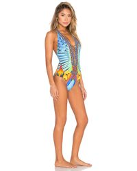 Camilla - Multicolor Lace Up One Piece - Lyst