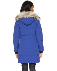 Canada Goose - Blue Shelburne Quilted Down-filled Parka Jacket  - Lyst