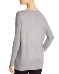 Aqua | Gray Neon Side Zip Sweater | Lyst