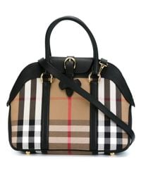 Burberry | Black House Check Bowling Tote | Lyst