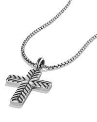 David Yurman - Metallic Modern Chevron Cross Necklace for Men - Lyst