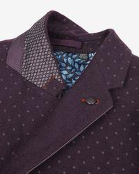 Ted Baker | Purple Spot Print Blazer for Men | Lyst