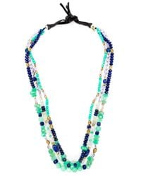 Royal Nomad Jewelry | Green Mixed Stone Beaded Necklace | Lyst
