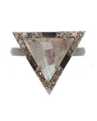 Adornia   Multicolor Metropolitan Ring, Assorted Stones   Lyst