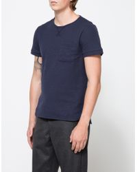 Native Youth | Blue Waffle Effect Tee for Men | Lyst