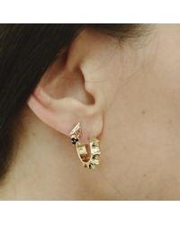 Pamela Love | Metallic Sun Hoop Earrings | Lyst