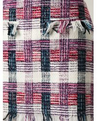 MSGM - Pink Bouclé Skirt Shirt Dress - Lyst