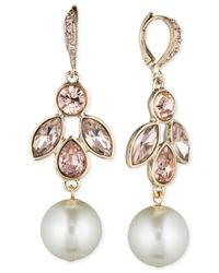 Givenchy | White Gold-tone Imitation Pearl And Crystal Large Drop Earrings | Lyst