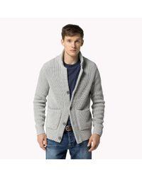 Tommy Hilfiger | Gray Cotton Cardigan Blazer for Men | Lyst