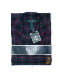 Lauren by Ralph Lauren | Green 2-piece Plaid Pajama Set | Lyst